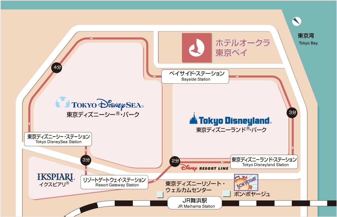 ディズニーリゾートラインのご案内|アクセス|ホテル紹介|舞浜|ホテル
