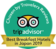 Awarded a Top 20 ranking in Tripadvisor® Hotels with the Best Breakfasts 2019