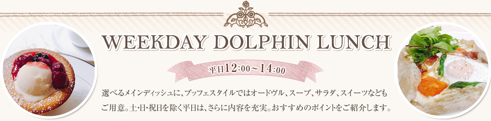WEEKDAY DOLPHIN LUNCH